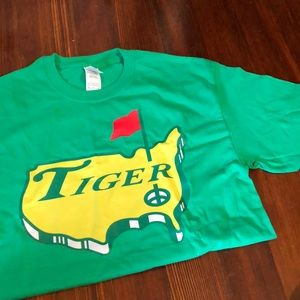 Never Worn Tiger Masters tee shirt